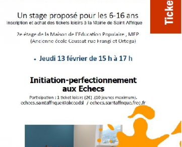 Stage Echecs : Initiation/perfectionnement
